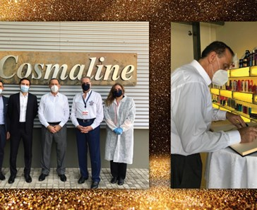 LEBANESE MINISTER OF INDUSTRY VISITS COSMALINE MANUFACTURING SITE